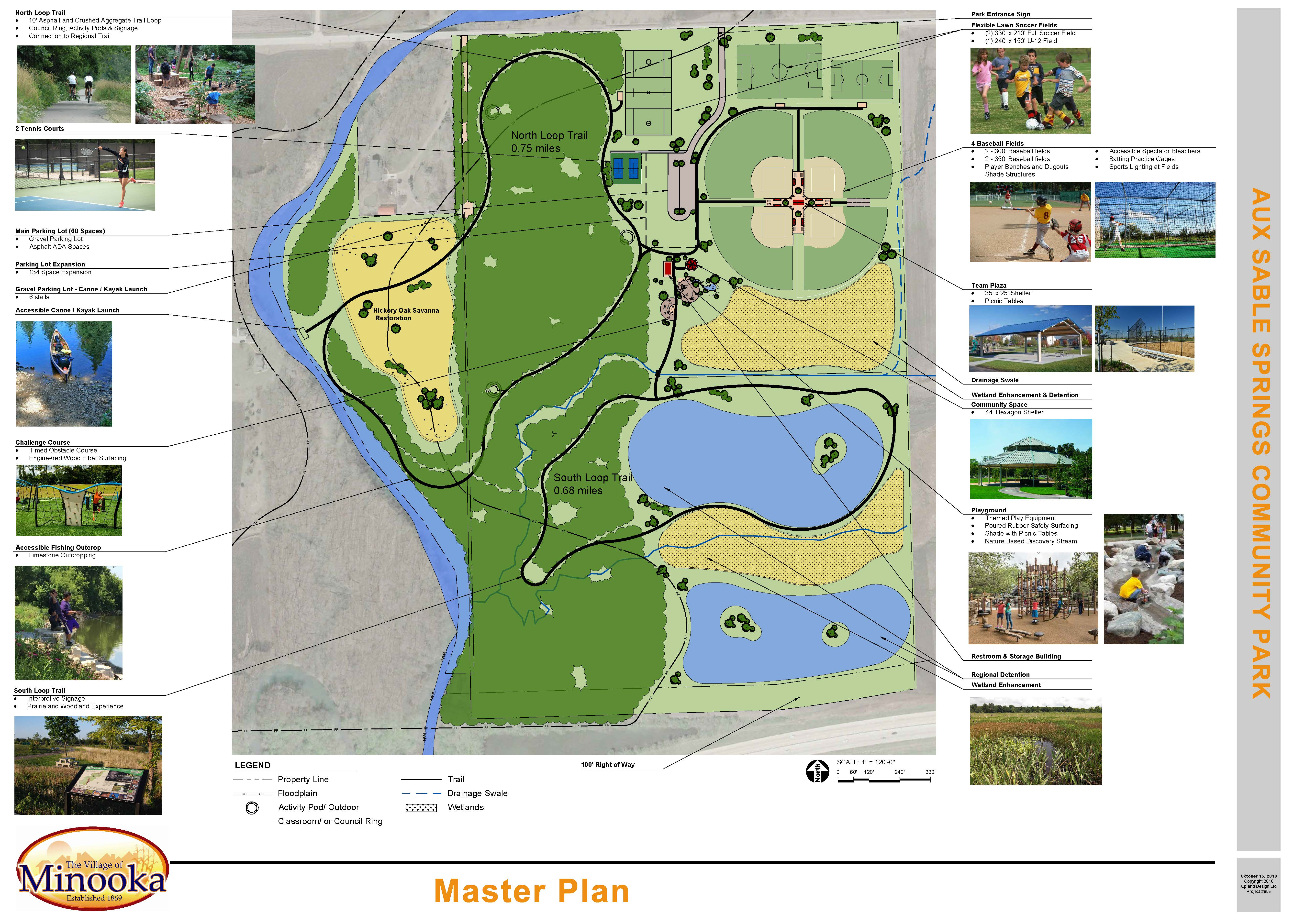 Aux Sable Springs Park - Master Plan - Upland Design