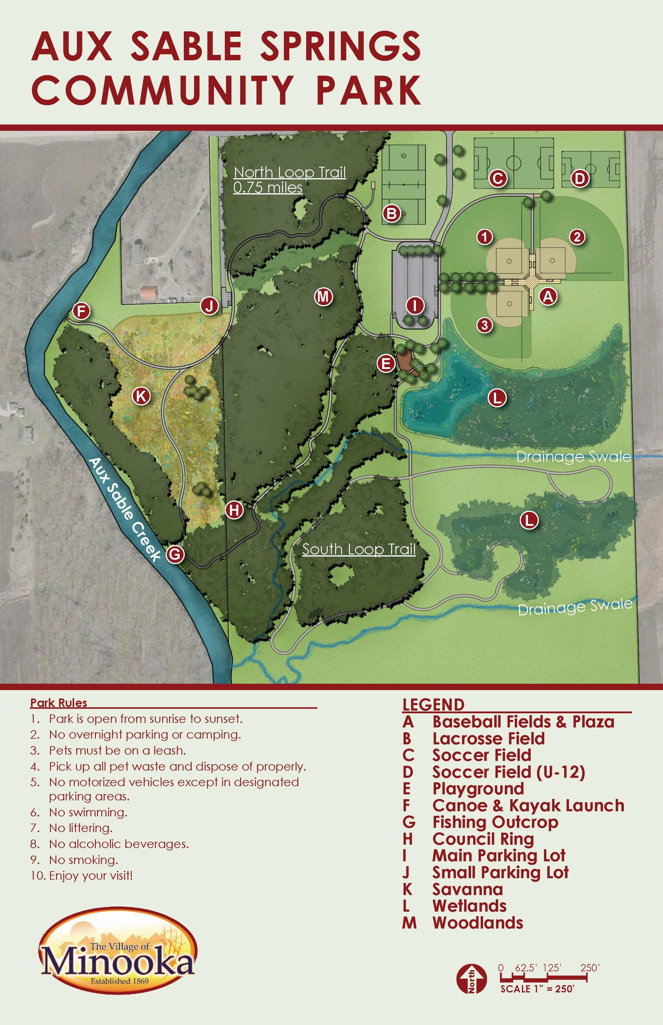 Aux Sable Park - Map