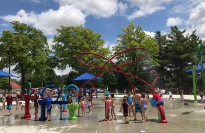 Community splash pads open