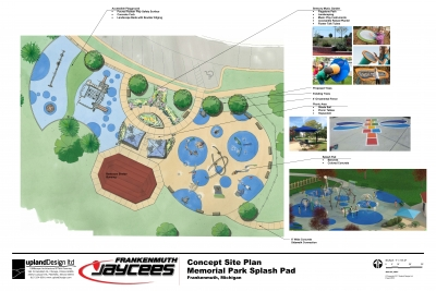 Frankenmuth Jaycee's and Upland Design Playground Site Plan