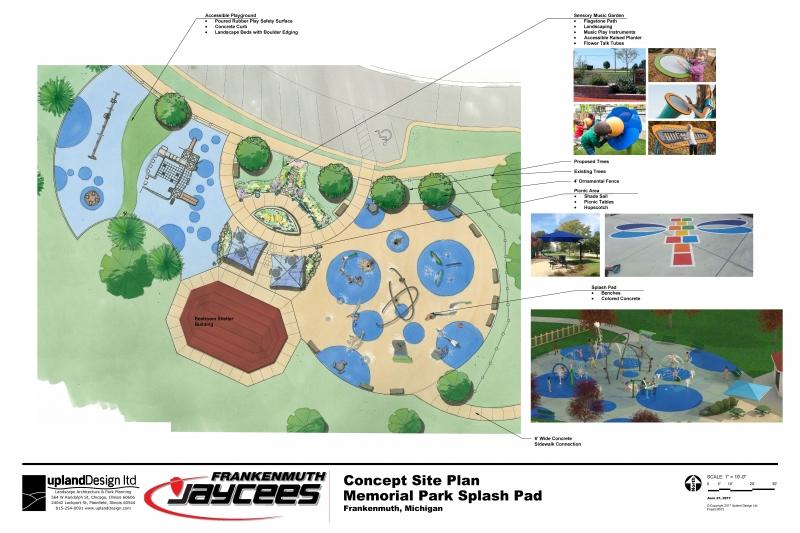 Frankenmuth Jaycee's and Upland Design Playground Site Plan