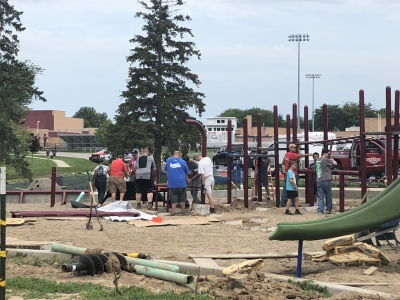 Frankenmuth Playground Construction 1