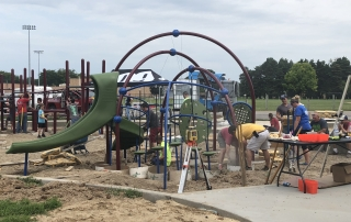 Frankenmuth Playground Construction 2