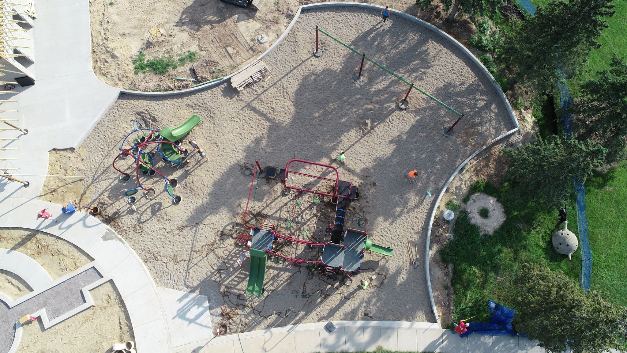 Frankenmuth Playground Construction 3