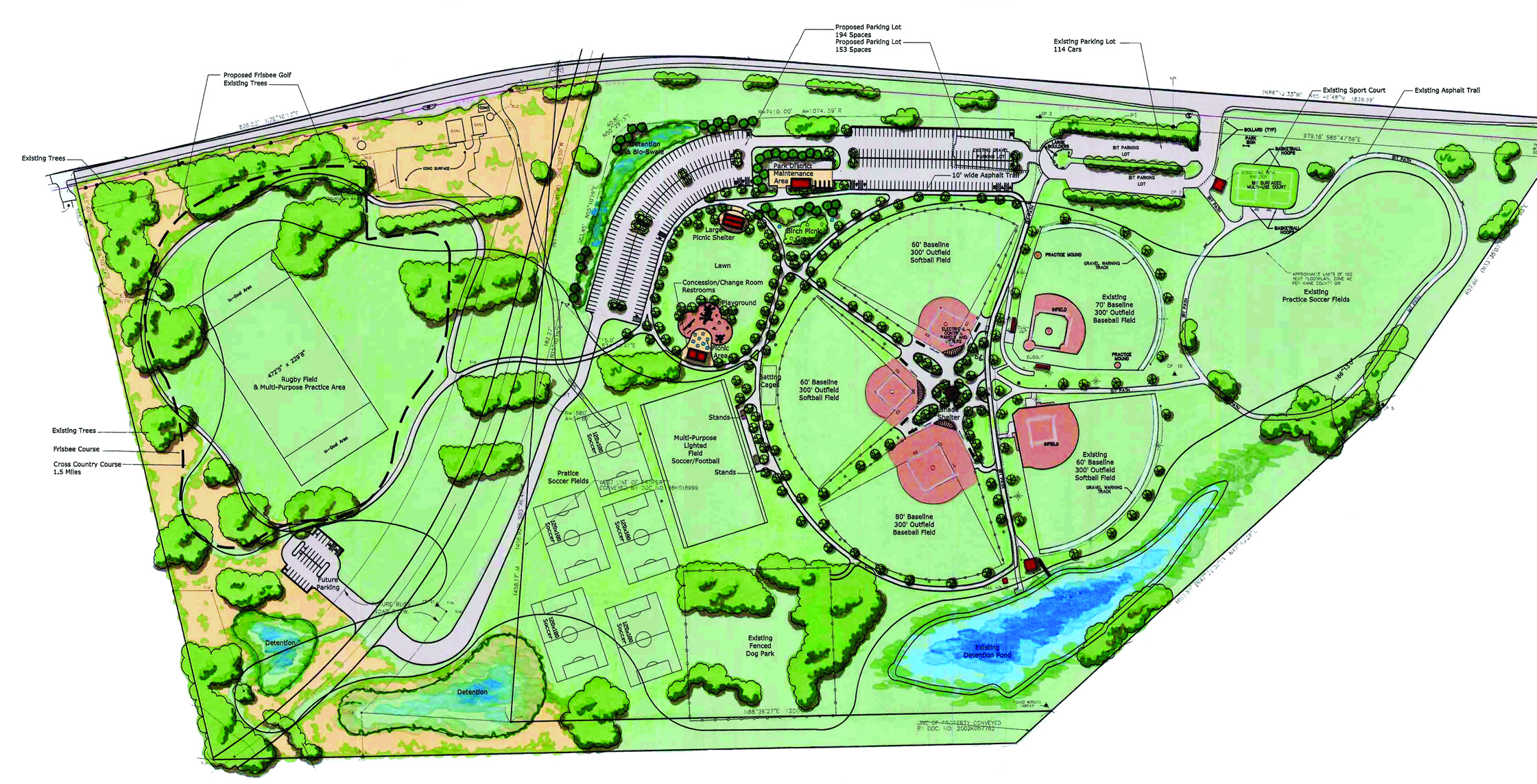 Sports Complex Plan R - West Main Park Master Plan - Upland Design