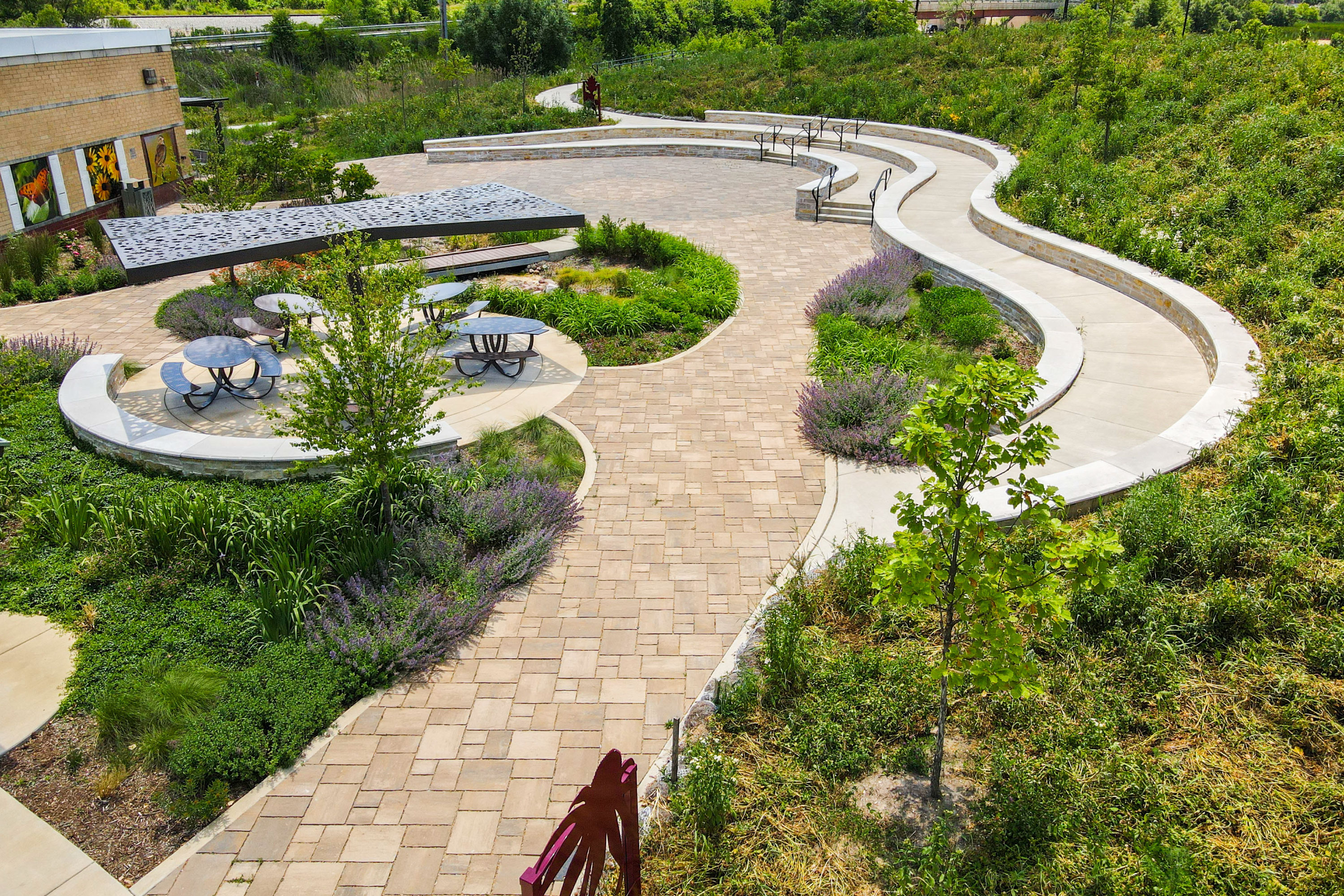 Upland Design Orland Park Nature Center - Upper View