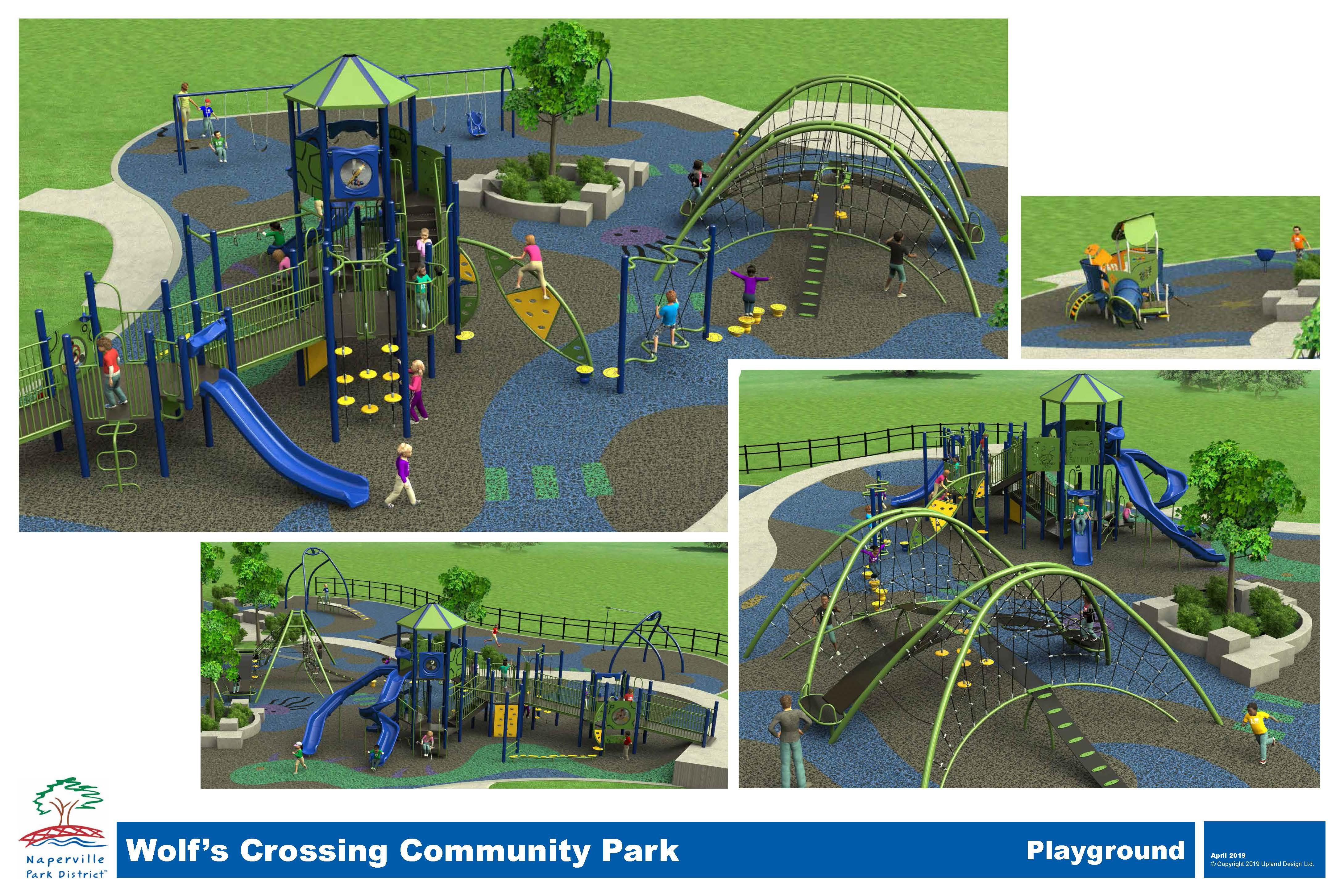 Wolf's Crossing Community Park Render Design