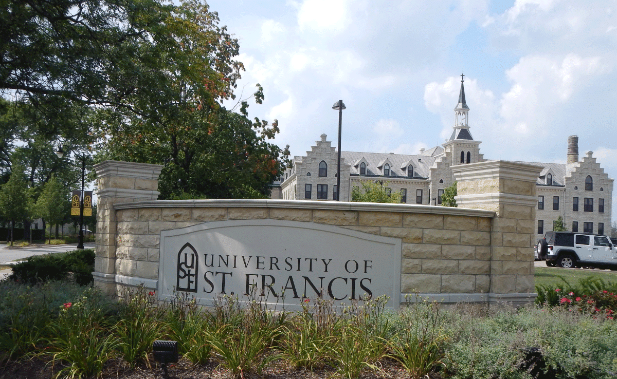 University of St. Francis - Entrance Sign - Upland Design